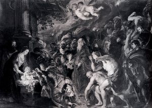 Reproduction oil paintings - Rubens - The Adoration Of The Magi
