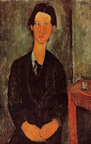 Expressionism painting reproductions: Portrait Of Chaim Soutine Seated At A Table