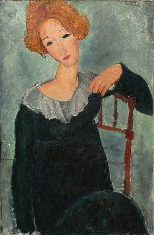 Reproduction oil paintings - Amedeo Modigliani - Woman With Read Hair