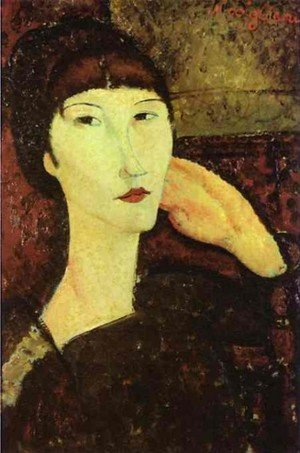 Expressionism painting reproductions: Adrienne   Woman With Bangs