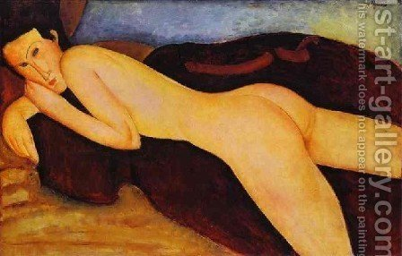 Nu Couche De Dos by Amedeo Modigliani - Reproduction Oil Painting