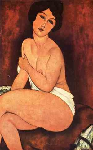Reproduction oil paintings - Amedeo Modigliani - Seated Nude On Divan