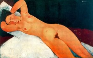 Expressionism painting reproductions: Nude With Necklace