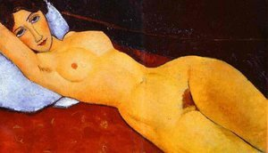 Expressionism painting reproductions: Reclining Nude