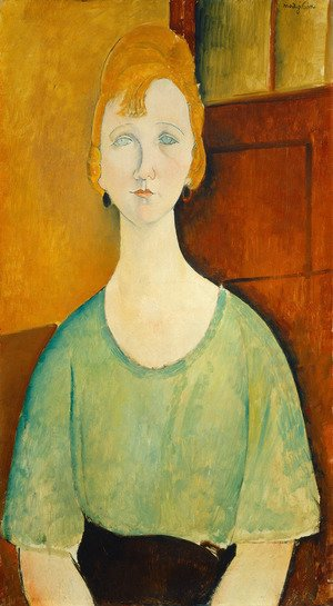 Expressionism painting reproductions: Girl In A Green Blouse
