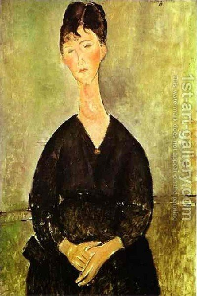 Cafe Singer by Amedeo Modigliani - Reproduction Oil Painting