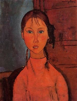Reproduction oil paintings - Amedeo Modigliani - Girl With Braids