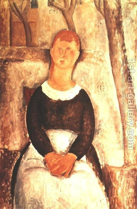 La Belle Epiciere by Amedeo Modigliani - Reproduction Oil Painting
