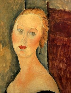 Expressionism painting reproductions: A Blond Woman   Portrait Of Germaine Survage