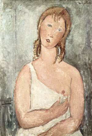 Expressionism painting reproductions: Girl In A White Chemise
