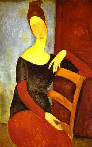 Expressionism painting reproductions: Portrait Of Jeanne Hebuterne   Common Law Wife Of Amedeo Modigliani Ii