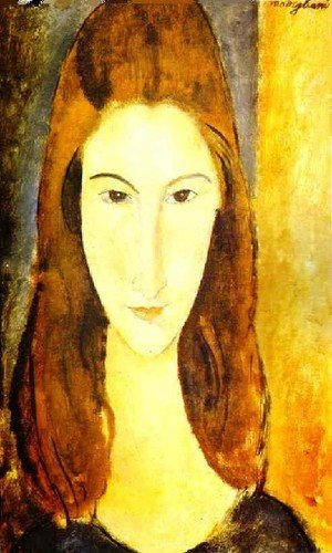 Expressionism painting reproductions: Portrait Of Jeanne Hebuterne Ii