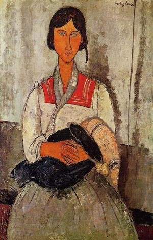 Expressionism painting reproductions: Gypsy Woman With Child
