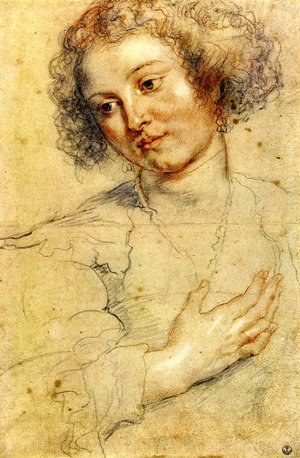 Reproduction oil paintings - Rubens - Head And Right Hand Of A Woman