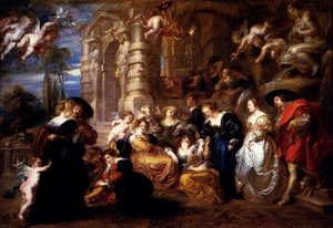 Reproduction oil paintings - Rubens - The Garden Of Love