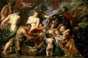 Reproduction oil paintings - Rubens - Peace And War