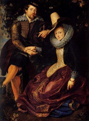 Famous paintings of Couples: Self Portrait With Isabella Brant