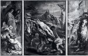 Reproduction oil paintings - Rubens - The Elevation Of The Cross