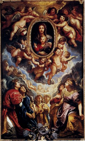 Reproduction oil paintings - Rubens - Virgin And Child Adored By Angels