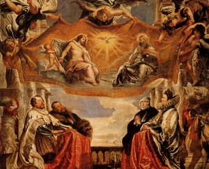 Reproduction oil paintings - Rubens - The Trinity Adored By The Duke Of Mantua And His Family