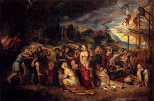 Reproduction oil paintings - Rubens - Aeneas And His Family Departing From Troy