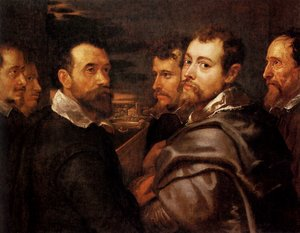 Reproduction oil paintings - Rubens - The Mantuan Circle Of Friends