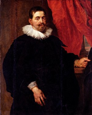 Reproduction oil paintings - Rubens - Portrait Of A Man  Probably Peter Van Hecke