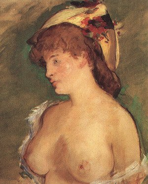 Reproduction oil paintings - Edouard Manet - Blond Woman with Bare Breasts  1878