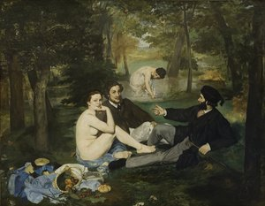 Reproduction oil paintings - Edouard Manet - Le Dejeuner sur l'Herbe (The Picnic)  1863