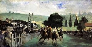 Racetrack Near Paris  1864