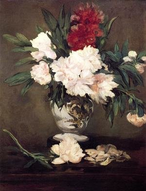 Reproduction oil paintings - Edouard Manet - Peonies In A Vase