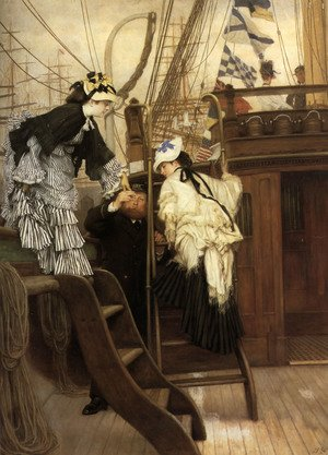 Reproduction oil paintings - James Jacques Joseph Tissot - Boarding The Yacht