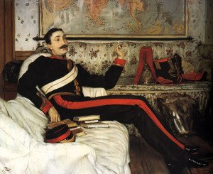 Reproduction oil paintings - James Jacques Joseph Tissot - Captain Frederick Gustavus Burnaby