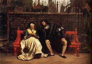 Neo-Classical painting reproductions: Faust And Marguerite In The Garden