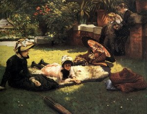 Neo-Classical painting reproductions: In The Sunshine