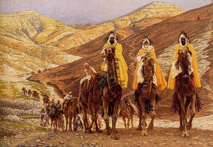 Reproduction oil paintings - James Jacques Joseph Tissot - Journey Of The Magi