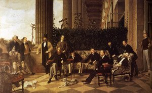 Reproduction oil paintings - James Jacques Joseph Tissot - The Circle Of The Rue Royale