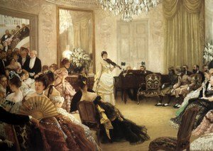 Reproduction oil paintings - James Jacques Joseph Tissot - The Concert