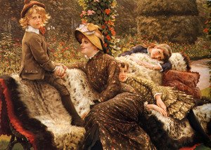 James Jacques Joseph Tissot reproductions - The Garden Bench