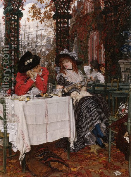 Un Dejeuner by James Jacques Joseph Tissot - Reproduction Oil Painting