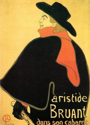 Reproduction oil paintings - Toulouse-Lautrec - Aristede Bruand At His Cabaret