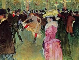Toulouse-Lautrec reproductions - Dance At The Moulin Rouge
