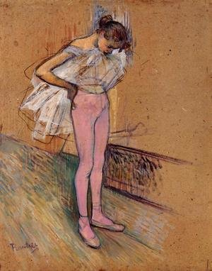 Reproduction oil paintings - Toulouse-Lautrec - Dancer Adjusting Her Tights