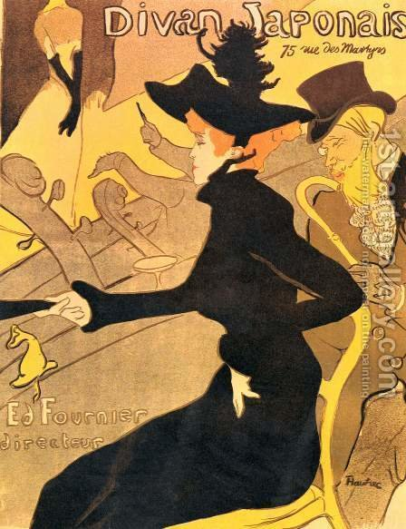 Divan Japonais by Toulouse-Lautrec - Reproduction Oil Painting