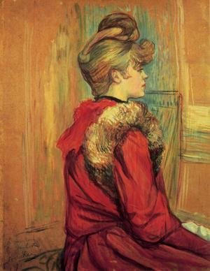 Reproduction oil paintings - Toulouse-Lautrec - Girl In A Fur   Mademoiselle Jeanne Fontaine