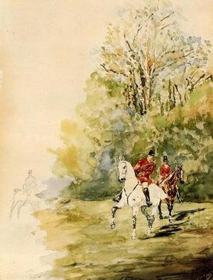Reproduction oil paintings - Toulouse-Lautrec - Hunting