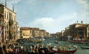 Rococo painting reproductions: A Regatta on the Grand Canal c. 1732