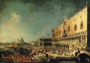 Rococo painting reproductions: Arrival of the French Ambassador in Venice 1740s