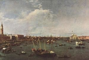 Famous paintings of Clouds & Skyscapes: Bacino di San Marco (St Mark's Basin) 1738-40