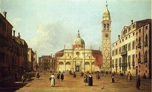 Famous paintings of Squares and Piazzas: Campo Santa Maria Formosa c. 1735